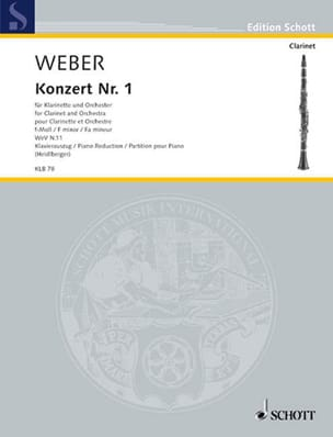 Carl Maria von Weber - Concerto N°1 en Fa Mineur Opus 73 - Partition - di-arezzo.fr