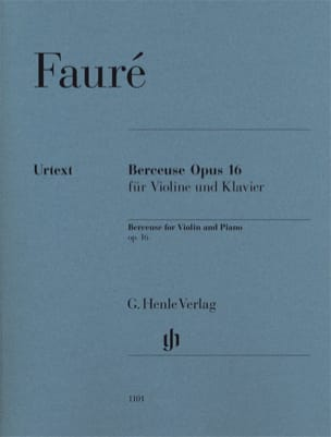 Gabriel Fauré - Lullaby Op.16 - Sheet Music - di-arezzo.co.uk