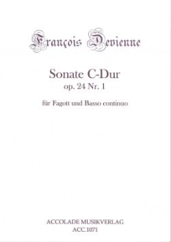 François Devienne - Sonata Op 24 No.1 In C Major - Sheet Music - di-arezzo.com