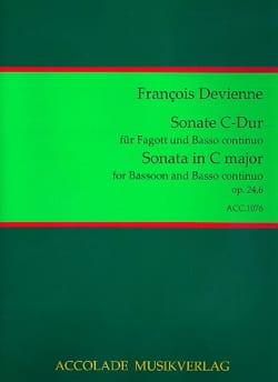 François Devienne - Sonata Op. 24 N ° 6 in C Major - Sheet Music - di-arezzo.co.uk