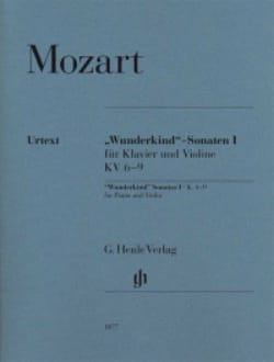 Wolfgang Amadeus Mozart - Sonates Wunderkind Volume 1 Pour Piano et Violon K. 6-9 - Partition - di-arezzo.fr
