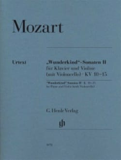 Sonates Wunderkind Volume 2 Pour Piano et Violon K. 10-15 laflutedepan