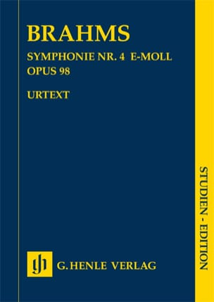BRAHMS - Symphony No. 4 in E minor op. 98 - Sheet Music - di-arezzo.co.uk