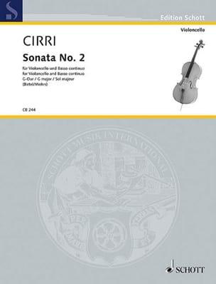 Sonate N°2 en Sol Majeur - Giambattista Cirri - laflutedepan.com