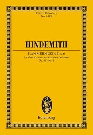 Kammermusik Opus 46 N°1 - Paul Hindemith - laflutedepan.com