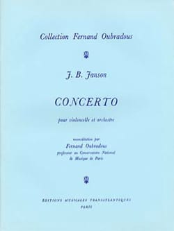 J. B. Janson - Cello Concerto and Orchestra - Sheet Music - di-arezzo.co.uk