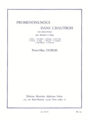 Pierre-Max Dubois - Walk in the Oboe - Sheet Music - di-arezzo.com