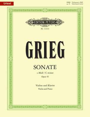 Edvard Grieg - Sonate en Do Mineur Opus 45 - Partition - di-arezzo.ch