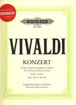Concerto en Mi Majeur Opus 3 N°12 - Rv 265 - laflutedepan.com