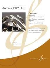 Concerto en la Mineur VIVALDI Partition Clarinette - laflutedepan