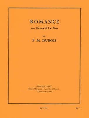 Romance Pierre-Max Dubois Partition Clarinette - laflutedepan