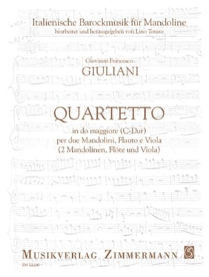 Giovanni Francesco Giuliani - Quartetto in C Major - Sheet Music - di-arezzo.com