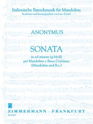 - Sonate en Sol Mineur - Partition - di-arezzo.fr