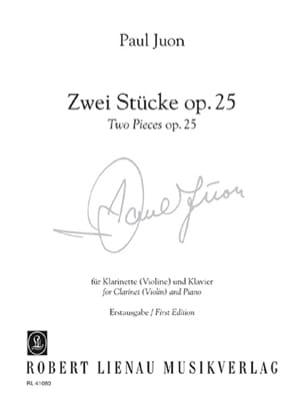 Paul Juon - 2 Pieces Opus 25 - Sheet Music - di-arezzo.com