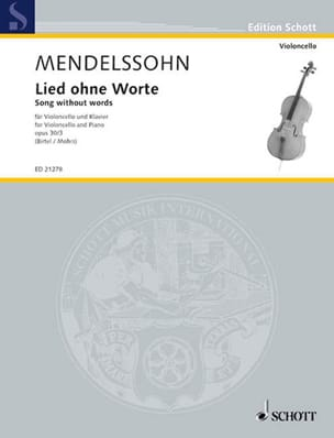 MENDELSSOHN - Lied Ohne Worte Opus 30 N ° 3 - Sheet Music - di-arezzo.co.uk