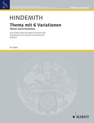 Paul Hindemith - Theme et 6 Variations - Partition - di-arezzo.fr