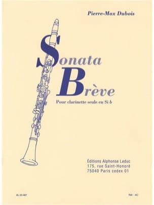 Sonata Brève Pierre-Max Dubois Partition Clarinette - laflutedepan