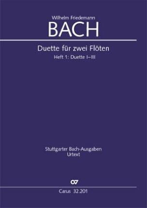 Duos pour Flutes Volume 1 Wilhelm Friedemann Bach laflutedepan