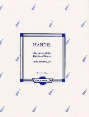 HAENDEL - The Entrance Of The Shebba Queen - Partition - di-arezzo.fr