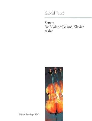 Gabriel Fauré - Sonate en la Majeur Opus 13 - Partition - di-arezzo.fr