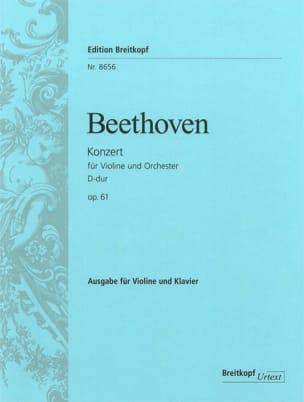 Ludwig van Beethoven - Concerto en Ré Majeur Opus 61 - Partition - di-arezzo.fr