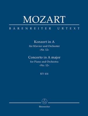 Klavierkonzert Nr. 12 A-Dur KV 414 MOZART Partition laflutedepan