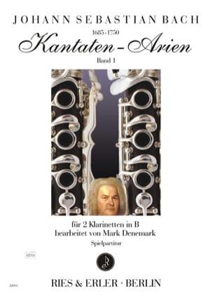 Kantaten Arien Volume 1 BACH Partition Clarinette - laflutedepan