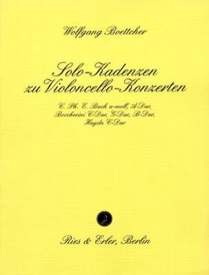 Wolfgang Boettcher - Cadences de Concerto Pour Violoncelle - Partition - di-arezzo.fr