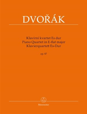 DVORAK - Quartet With Piano Bb Major Opus 87 - Sheet Music - di-arezzo.com