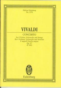 Concerto F-Dur - VIVALDI - Partition - Petit format - laflutedepan.com