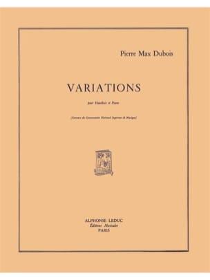 Variations Pierre-Max Dubois Partition Hautbois - laflutedepan