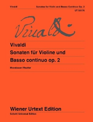 Antonio Vivaldi - Sonates Pour Violon et Basse Continue Opus 2 - Partition - di-arezzo.fr