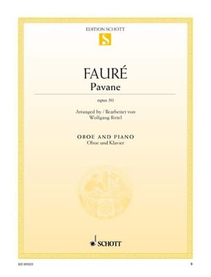 Gabriel Fauré - Pavane Opus 50 - Oboe - Sheet Music - di-arezzo.co.uk