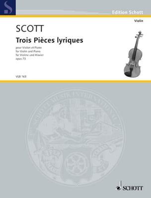 Trois Pièces Lyriques Opus 73 Cyril Scott Partition laflutedepan