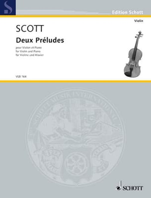 Deux Préludes - Cyril Scott - Partition - Violon - laflutedepan.com