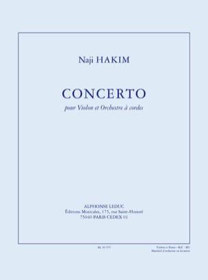 Naji Hakim - Concerto Pour Violon et Orchestre A Cordes - Partition - di-arezzo.fr