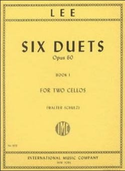 Six Duets Opus 60 - Book 1 Sebastian Lee Partition laflutedepan