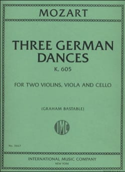 Wolfgang Amadeus Mozart - Three German Dances K.605 - Partition - di-arezzo.fr