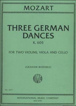MOZART - Three German Dances K.605 - Partition - di-arezzo.fr