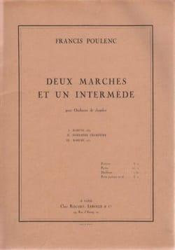 Francis Poulenc - 2 Marches et un Intermède pour Orchestre de Chambre - Partition - di-arezzo.fr