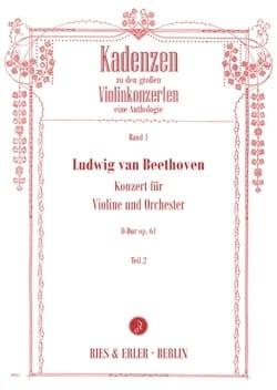 Cadences du Concerto pour Violon en Ré Majeur Opus 61 - Volume 2 - laflutedepan.com