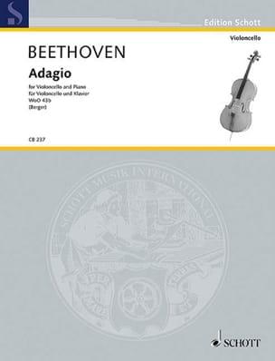 Adagio Woo43b - BEETHOVEN - Partition - Violoncelle - laflutedepan.com