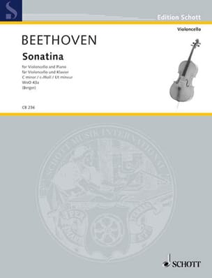 BEETHOVEN - Sonatina Woo 43a en Ut Mineur - Partition - di-arezzo.fr