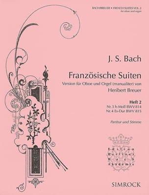 BACH - Franzosische Suiten Volume 2 - Partition - di-arezzo.fr