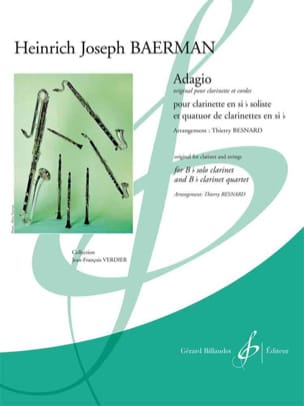Heinrich Joseph Baermann - Adagio pour Clarinette Solo et Quatuor de Clarinettes - Partition - di-arezzo.fr