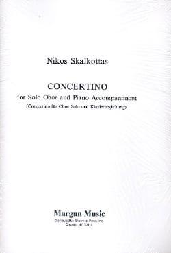 Concertino - Oboe/Piano Nikos Skalkottas Partition laflutedepan