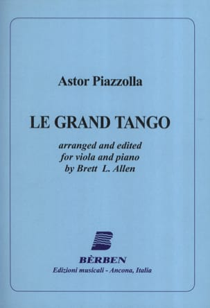 Astor Piazzolla - The Grand Tango - Alto - Sheet Music - di-arezzo.co.uk