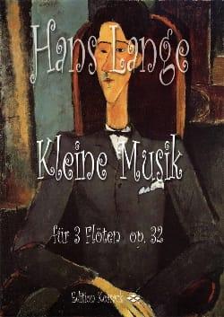 Kleine Musik Opus 32 - Hanse Lange - Partition - laflutedepan.com