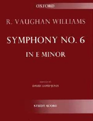 Williams Ralph Vaughan - Symphony N°6 en Mi Mineur - Partition - di-arezzo.fr