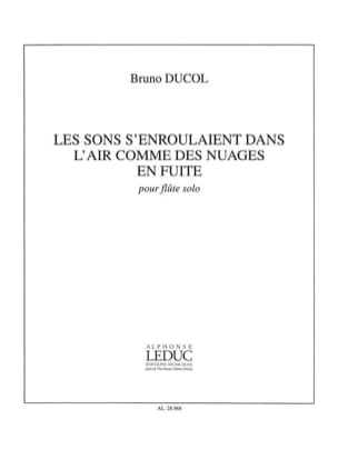 Bruno Ducol - The sounds curled in the air like runaway clouds - Sheet Music - di-arezzo.com